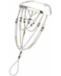 TOPSHOP - Beaded Hand Chain - Lyst