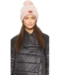 Bickley + Mitchell - Chevron Pom Pom Beanie - Lyst
