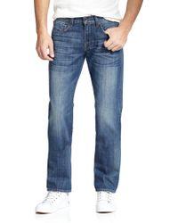 7 For All Mankind Carsen Modern Straight-Leg Jeans - Lyst