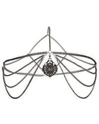 Topshop Drape Disc Head Chain silver - Lyst