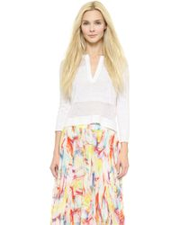 Alice + Olivia Shena Crop Sweater - White - Lyst