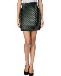 Jonathan Saunders Knee Length Skirt black - Lyst
