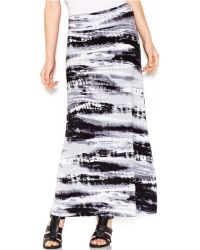 Kensie Graphic-print Maxi Skirt - Lyst