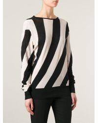 Ann Demeulemeester Blanche | Striped Cotton Sweater | Lyst