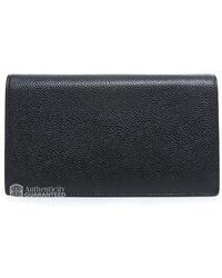 Chanel Pre-Owned Black Caviar Cc Bifold Wallet - Lyst