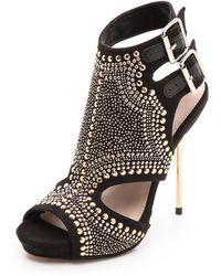 Carvela Kurt Geiger Gyrate Studded Cutout Sandals Black - Lyst