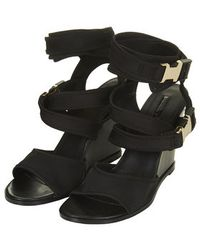 Topshop Wow Clip Buckle Wedges - Lyst