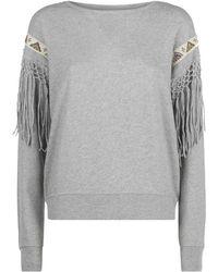 Denim & Supply Ralph Lauren - Embellished Fringe Trim Sweater - Lyst
