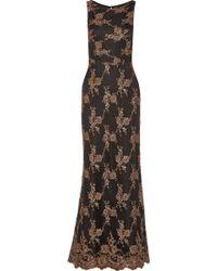 Alice + Olivia Katrina Embellished Tulle Gown - Lyst