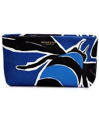 Burberry Prorsum Book Cover-Print Leather Pouch - Lyst