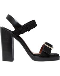 Givenchy 120Mm Suede Buckled Sandals - Lyst