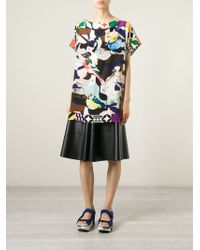 MSGM Bird And Flower Print Tunic - Lyst