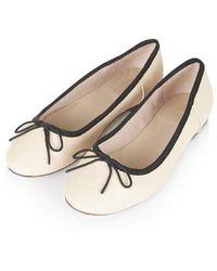 Topshop Venice Ballet Flats beige - Lyst