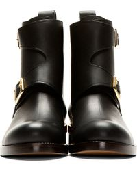 Chloé - Black Leather Ankle Boots - Lyst