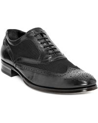 Alexander McQueen Mesh Brogue Oxford Lace Up - Lyst