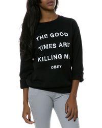 Obey The Killing Me Sweatshirt - Lyst