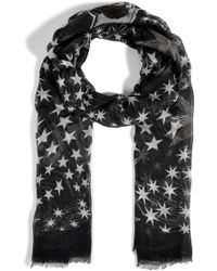 Matthew Williamson Cashmere Blend Mono Star Scarf - Lyst
