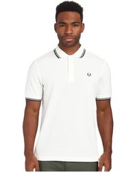 Fred Perry Twin Tipped Polo white - Lyst