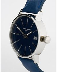 Simon Carter - Blue Leather Strap Watch - Lyst