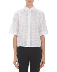 Thakoon Broderie Anglaise Crop Top - Lyst