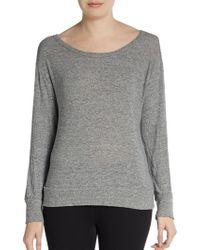 Monrow Draped Back Sweatshirt - Lyst