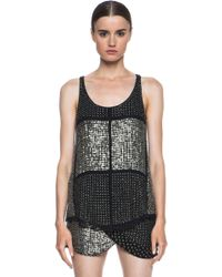 Isabel Marant Peachy Silk Embroidered Georgette Tank - Lyst
