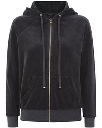 Juicy Couture Relaxed Velour Hoodie - Lyst