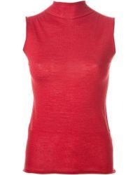 Calvin Klein Sleeveless Knit Sweater - Lyst