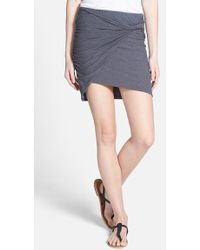 James Perse Twisted Jersey Miniskirt - Lyst
