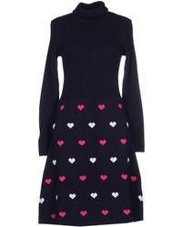 Peter Jensen - Turtle Neck Heart Pattern Dress - Lyst