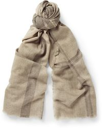 Tomas Maier Brown Cashmere Scarf - Lyst