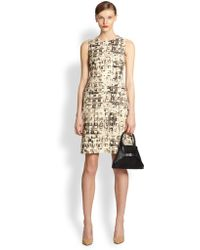 Akris Most Wanted Printed Wool Dress - Lyst