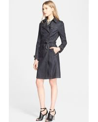 Burberry Brit 'Bramdale' Denim Trench Coat - Lyst
