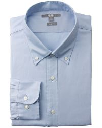 Uniqlo Minimum Care Oxford Slim Fit Long Sleeve Shirt - Lyst