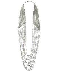 Topshop Metal Beaded Drape Necklace - Lyst
