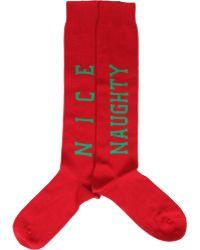 Barneys New York Naughty & Nice Socks red - Lyst
