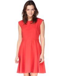 Louche Pencil Dress - Lou Scalloped Cut Out Black Dress - Lyst