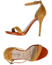 Miss Sixty Sandals yellow - Lyst