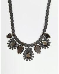 Girls On Film - Tiered Floral Burst Necklace - Lyst
