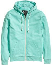 H&M Hooded Jacket green - Lyst
