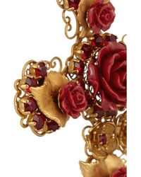 Dolce & Gabbana Gold-plated Crystal and Resin Clip Earrings - Lyst