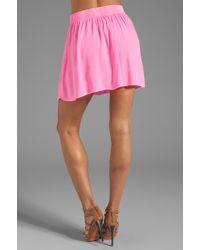 Monrow Crepe Short Skirt in Pink - Lyst