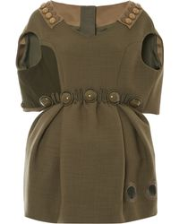 Marc Jacobs Olive Dress with Capelet Top - Lyst