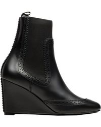 Balenciaga Brogues Chelsea Wedge Boots - Lyst