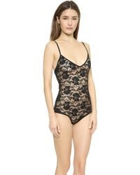 Free People Stretch Lace Bodysuit - Black - Lyst