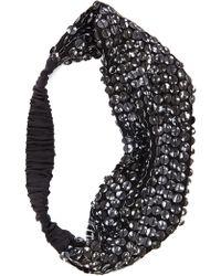 Eugenia Kim Daniella Silk Headband - Black - Lyst