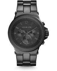 Michael Kors Dylan Gunmetal Stainless Steel Watch - Lyst