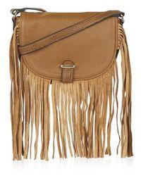 Topshop Tassel Saddle Bag - Lyst