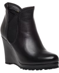 Vaneli For Jildor | Jara Leather Wedge Boots | Lyst