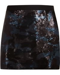 Ted Baker Mikania Camouflage Sequin Skirt - Lyst